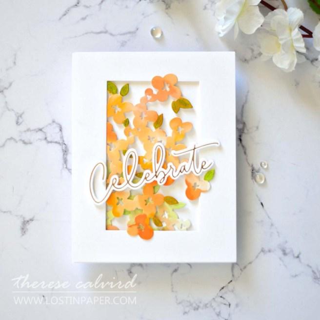 Lostinpaper - Ellen Hutson - Mod Floral - Pinkfresh Studio - Hot foil (cards) (2)