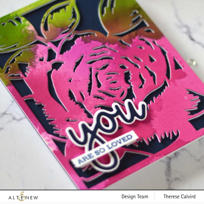 Altenew - Layered Blossom Cover Die - All About You Word Die Set - Take 2 With Therese (card video) 1