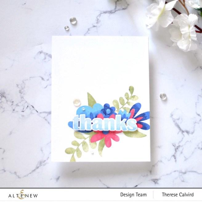 Altenew - Floral Thanks (card) 1 copy
