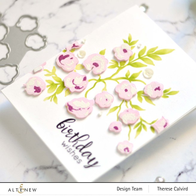 Altenew - Meadow Bush - Floral Frame - Take 2 With Therese (card video) 1 copy