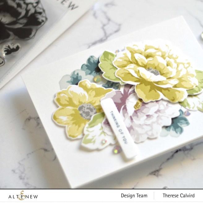 Altenew PK Lush Garden - Flower Vine - Featured Sentiments Die (card video) 2 copy