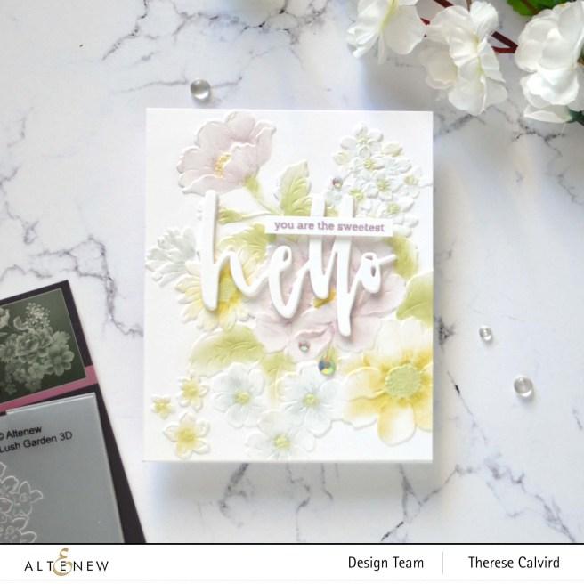 Altenew PK Lush Garden - Waterbrush Hello - Hello and Hugs (card video) 5 copy