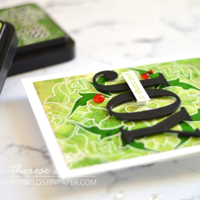 Lostinpaper - Unique Distress Backgrounds for Card Making - Arabesque Medallion - Jumbo Joy (LIVE VIdeo) 1