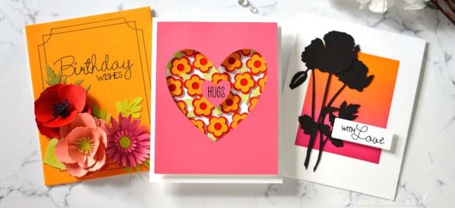 Lostinpaper - Cricut - 3 Floral Inspiration Cards 1