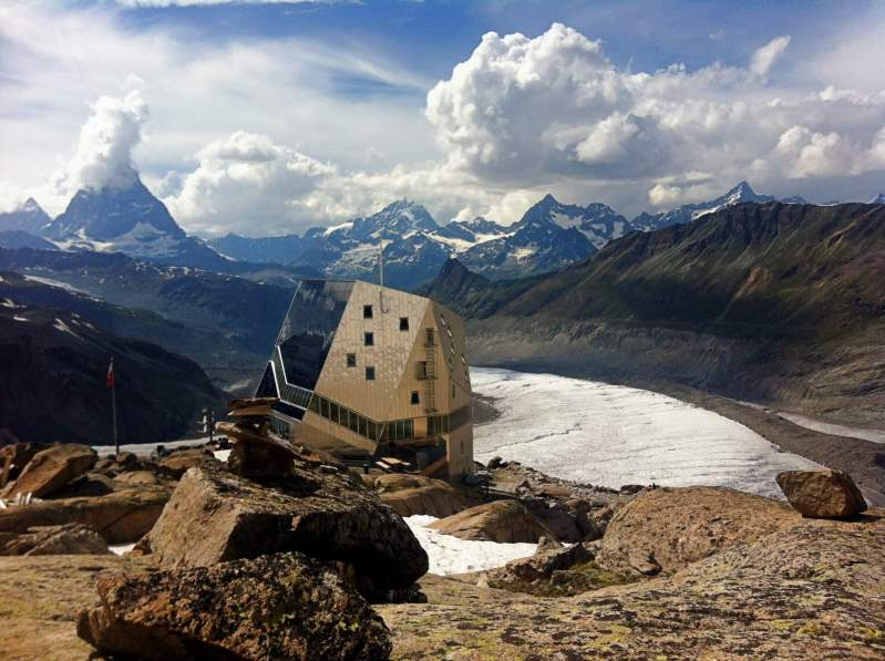 The Monte Rosa Hut is where Gabriela temporarily worked and fell in love with the area.