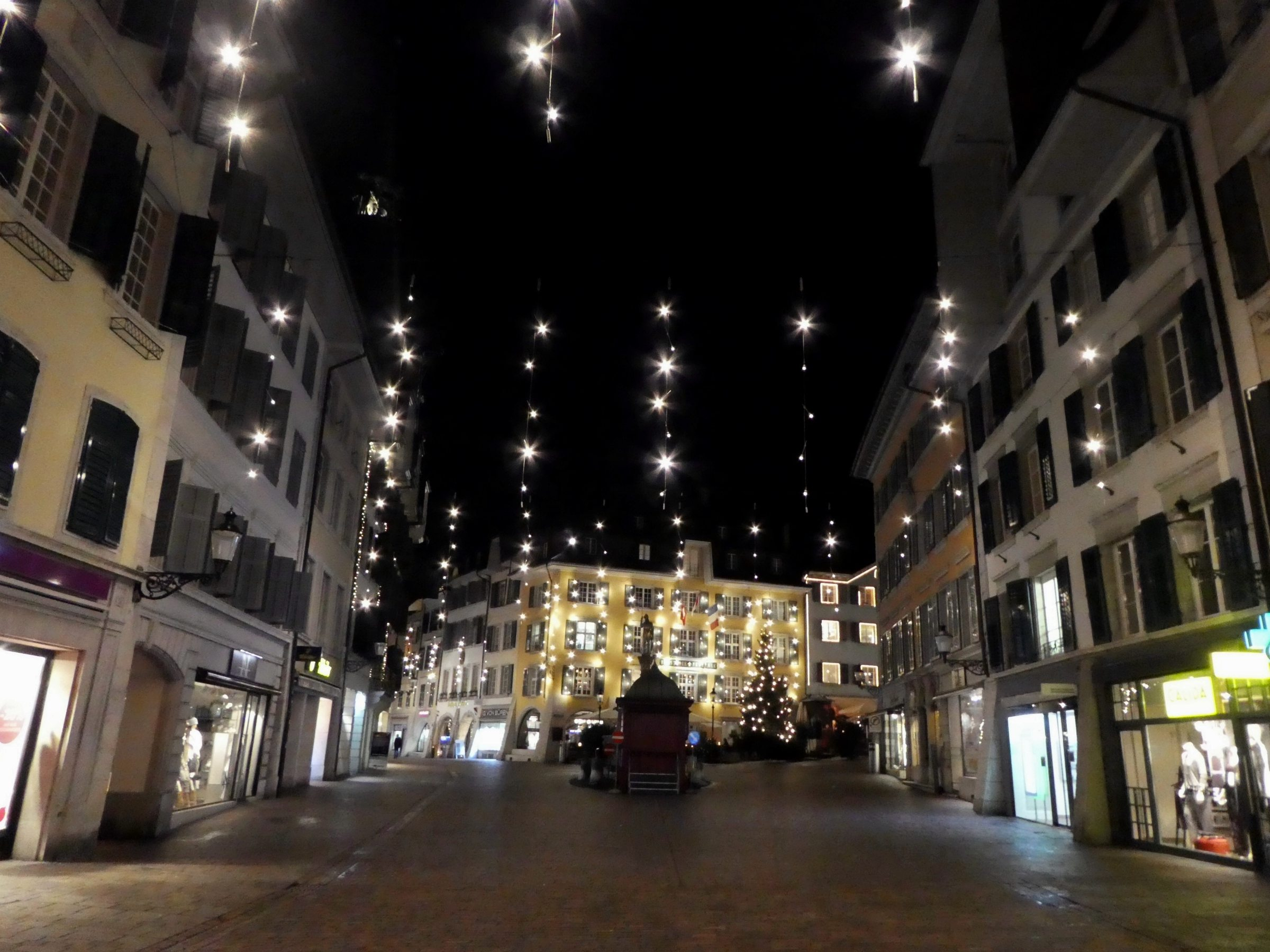 Christmas lights in Solothurn