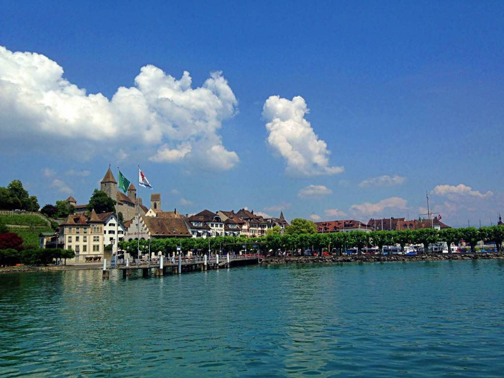 The quaint little town of Rapperswil by Lake Zurich
