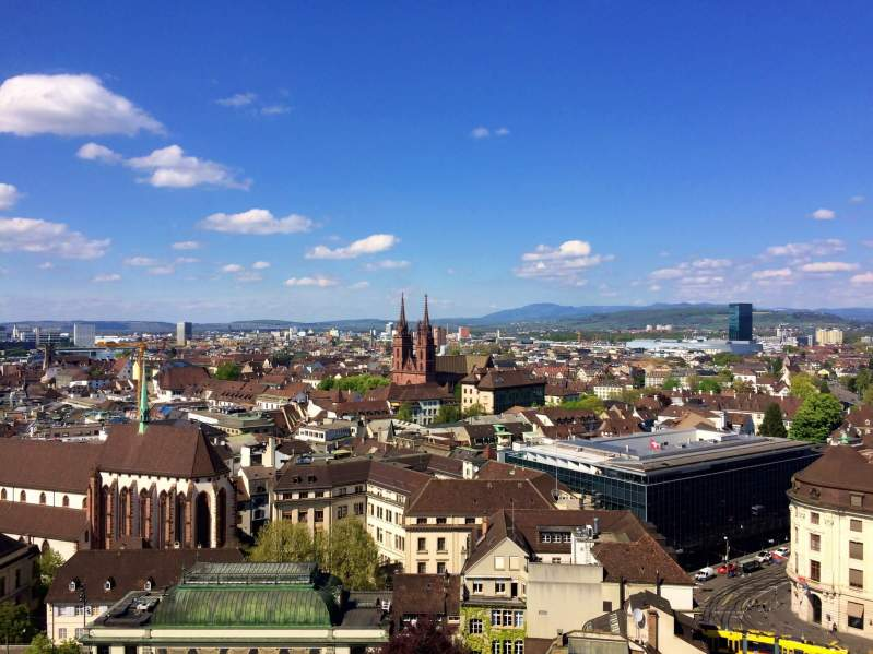 view over Basel from the Elisabethenkirche