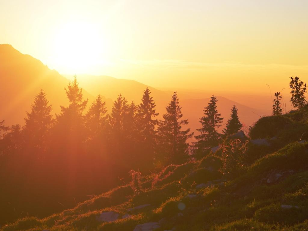 sunrise in Switzerland
