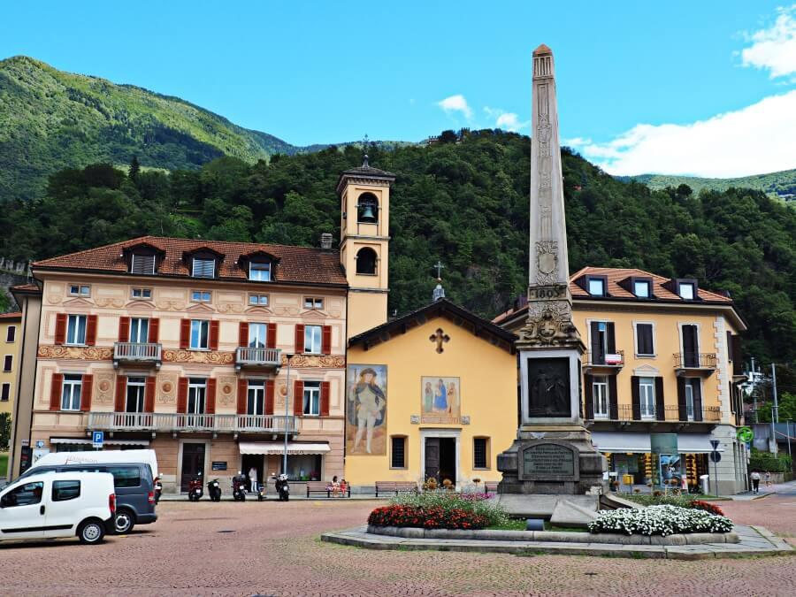 Piazza Independenza in Bellinzona