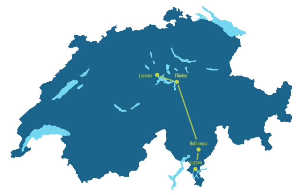 Gotthard Panorama Express map