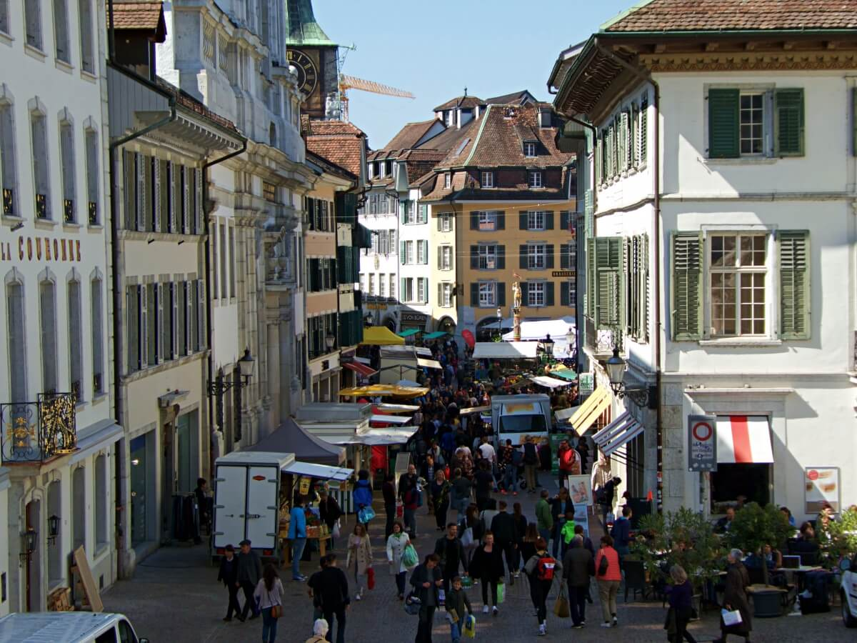 weekly market in Solothurn