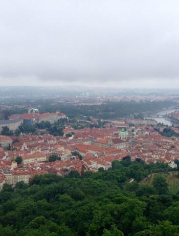Bird's eye view of old Prague