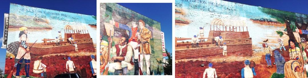 Kansas City murals street art River Market Lewis Clark