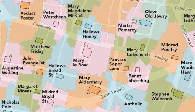 Part of the Ancient London City Parishes Guide