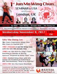 Jun Mo Wing Chun Kung Fu Seminar Nov 8