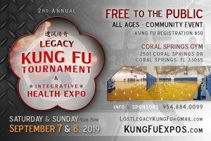 Legacy Ft Lauderdale Kung Fu Tournament Florida Sept 7-8 2019