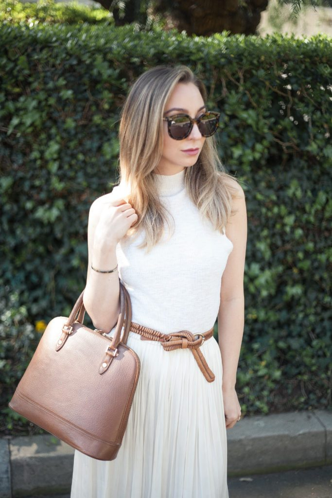 Summer White and Tan Outfit