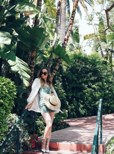 Palm Print Fashion and Beverly Hills Hotel Tips