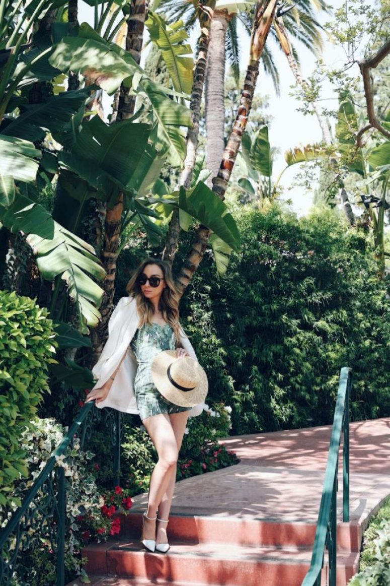 palm print summer outfit beverly hills