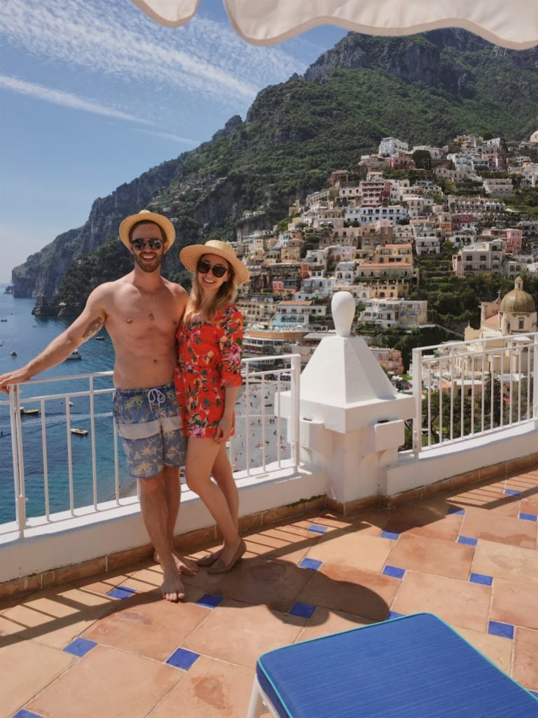 Romantic honeymoon vacation positano italy