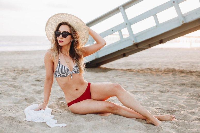 Vintage Inspired Striped Bikini, H&M