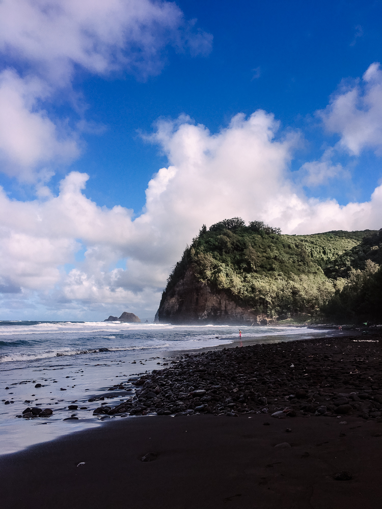 Black Sand Beach Pololu Valley Hawaii