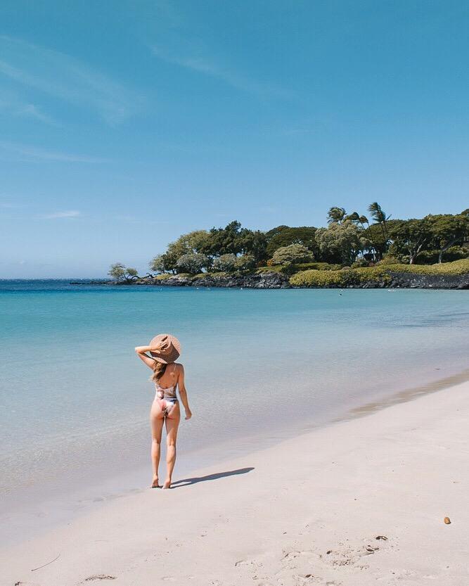 Hapuna Beach Big Island Hawaii One Piece Swimsuit