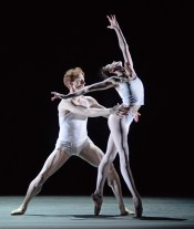 Olivia Cowley and Edward Watson rehearsing Qualia 6