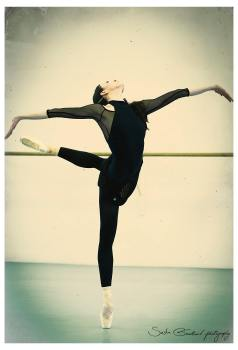 Victoria Tereshkina rehearsing in The Legend of Love 2