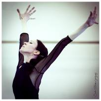 Victoria Tereshkina rehearsing in The Legend of Love 3