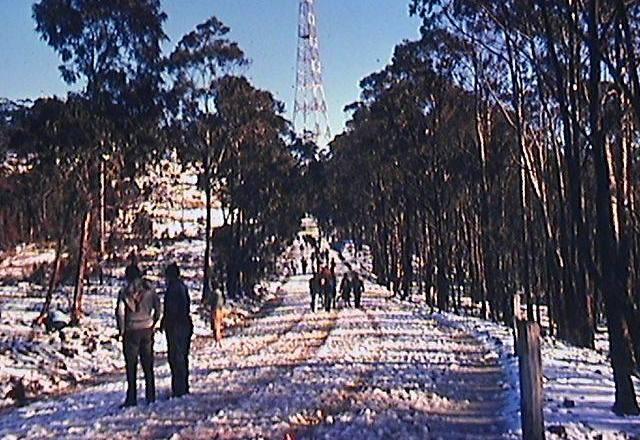 Snow on Mt Sugarloaf – 18 July 1965