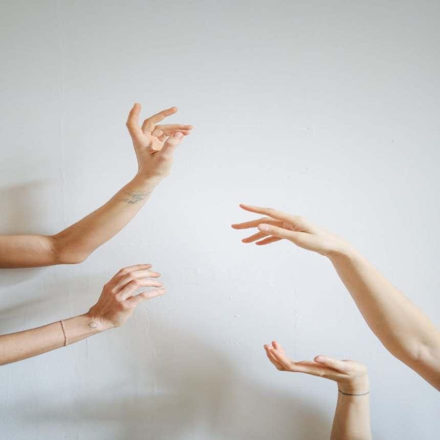 peoples hands