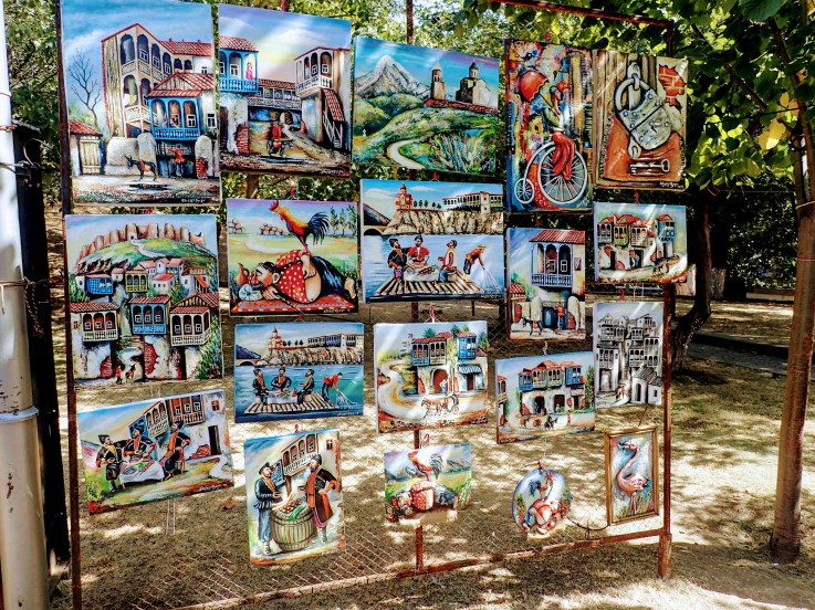 Amazing art for sale at the Dry Bridge flea market