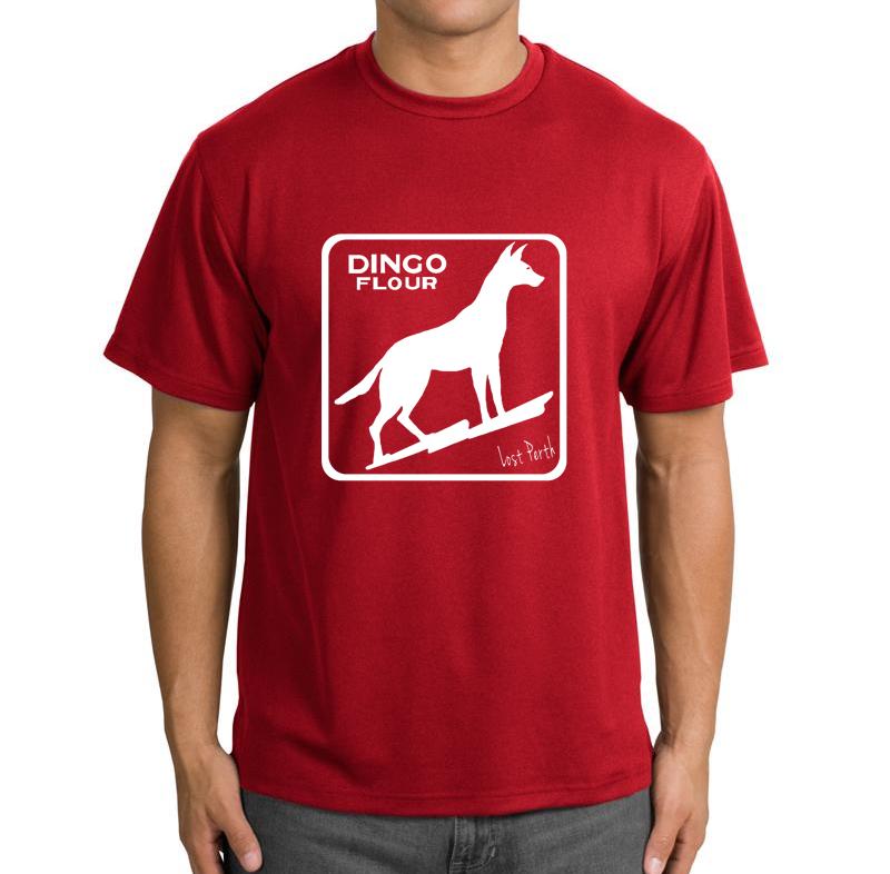 dingo white men's t-shirt