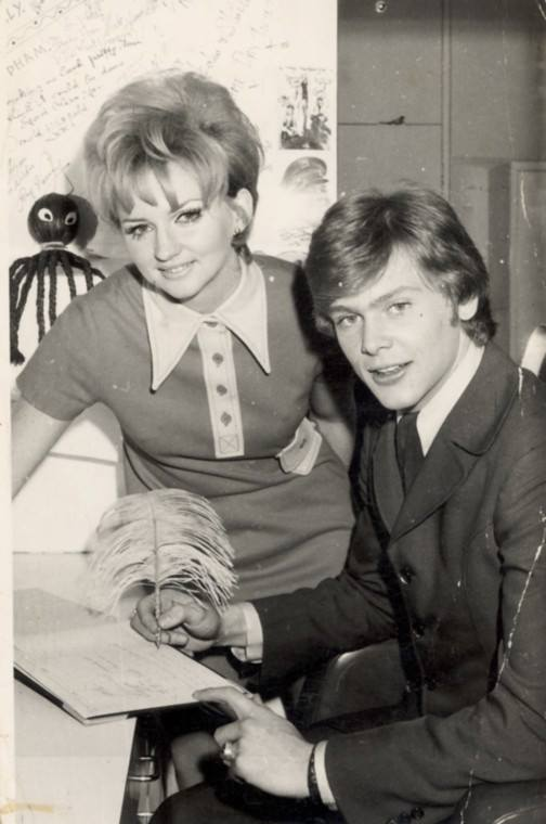 Jenny Seaton (Clemesha) & singer Johnny Farnham, 1960'S