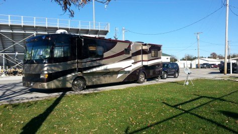 image of motorhome park at the fairgrounds