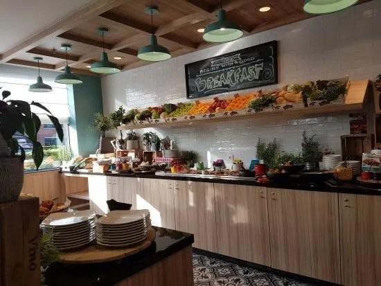 La zona colazione Park Inn di Schiphol