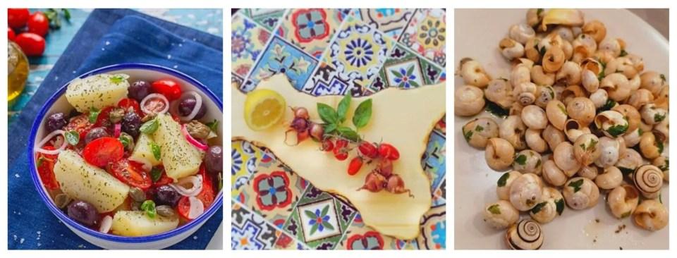 Insalata Pantesca, babbaluci e trinacria: inizio del tour gastronomico in Sicilia