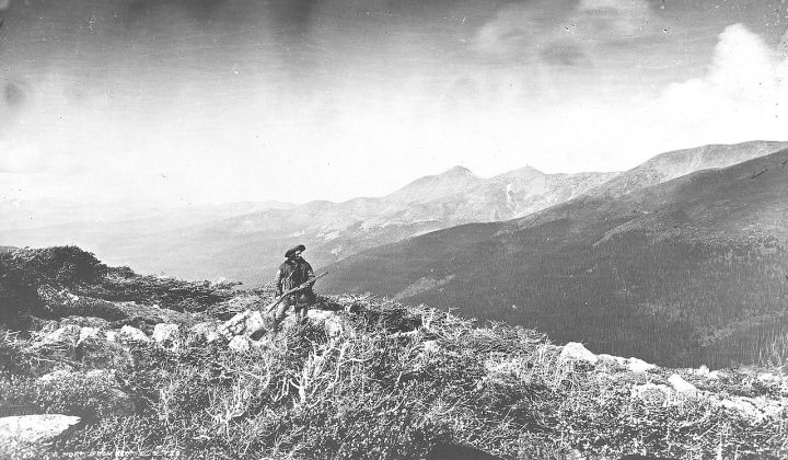 Harry Yount at Berthoud Pass in Colorado. 1874. See notation at end of story for more information about this mountain man.