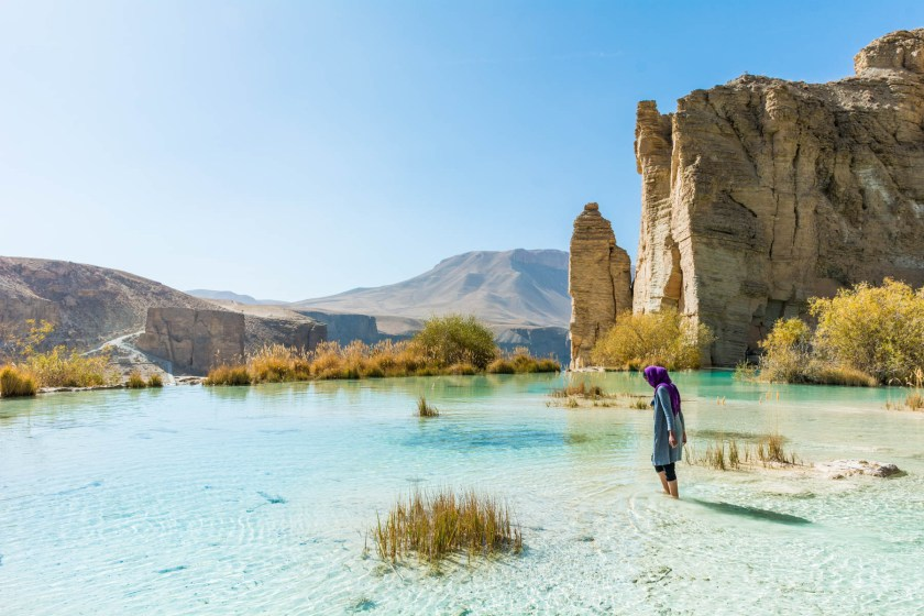 Wearing hijab, Islamic modest dress, in Band-e-Amir, Afghanistan - Lost With Purpose