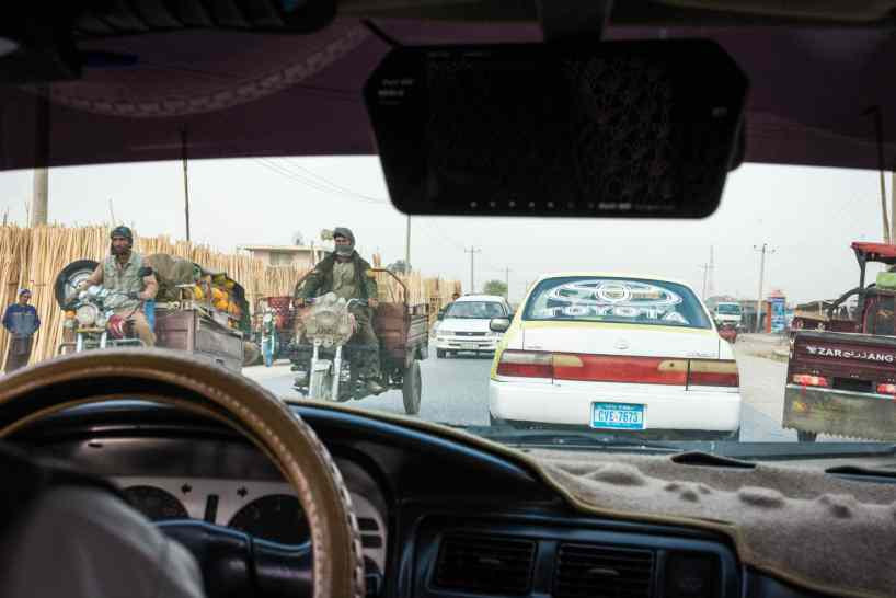 The inside of a taxi in Mazar-i-Sharif, Afghanistan - Lost With Purpose