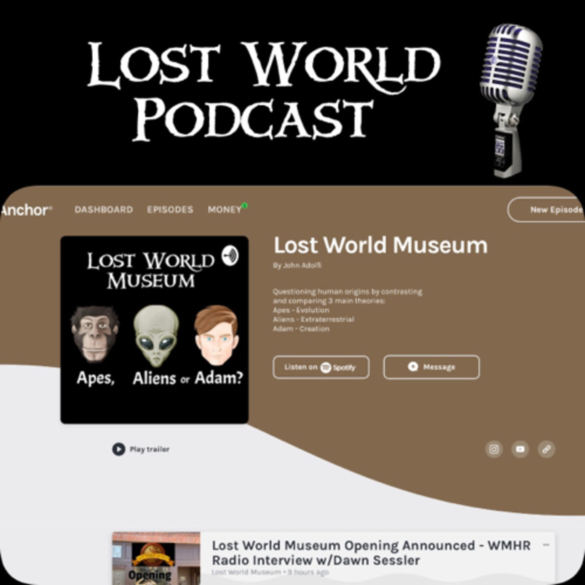 The Genesis of the Lost World Museum