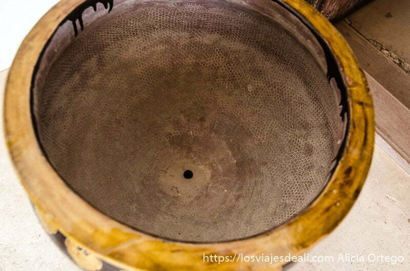 recipiente con el dibujo de los paneles de miel marcados