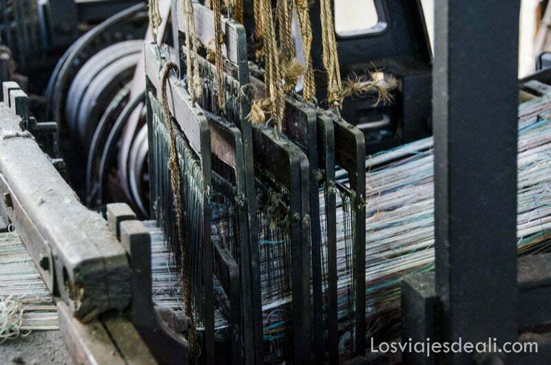 maquinaria de telar de principios del siglo xx
