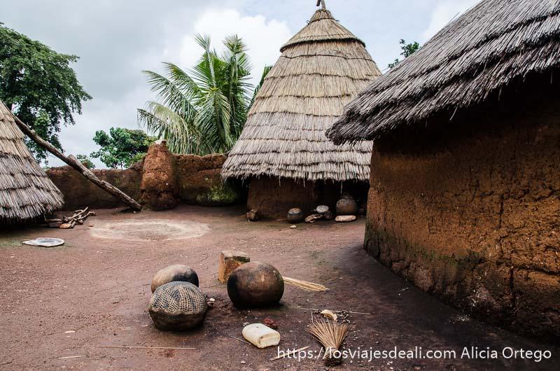 terraza superior de casa somba tribus de benin