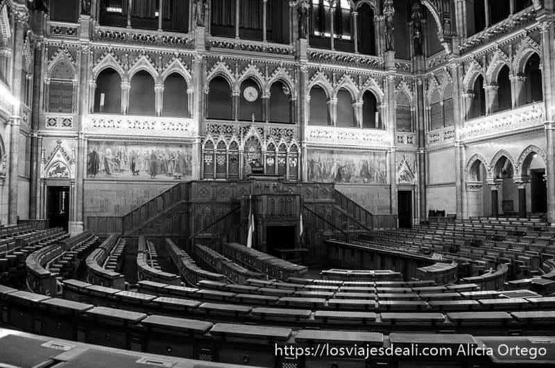 hemiciclo del parlamento guía del budapest monumental