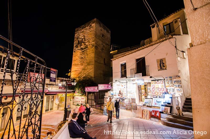 torre árabe en el centro de Torremolinos
