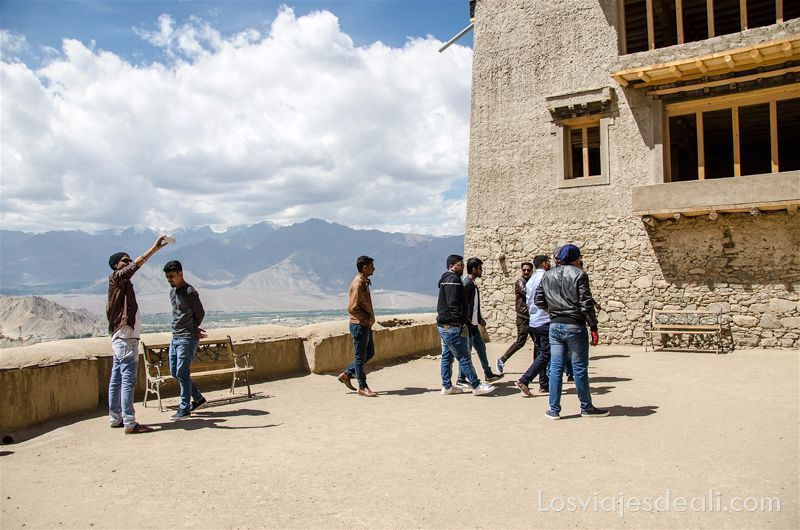 Leh India terraza del antiguo palacio