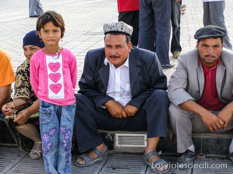 Gentes de Asia en Kashgar